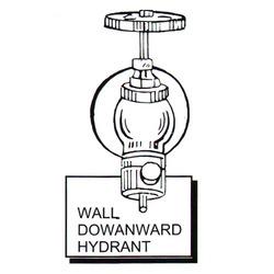 Wall Downward Hydrant