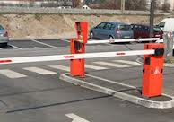 Boom Barrier With Movable Rest Post
